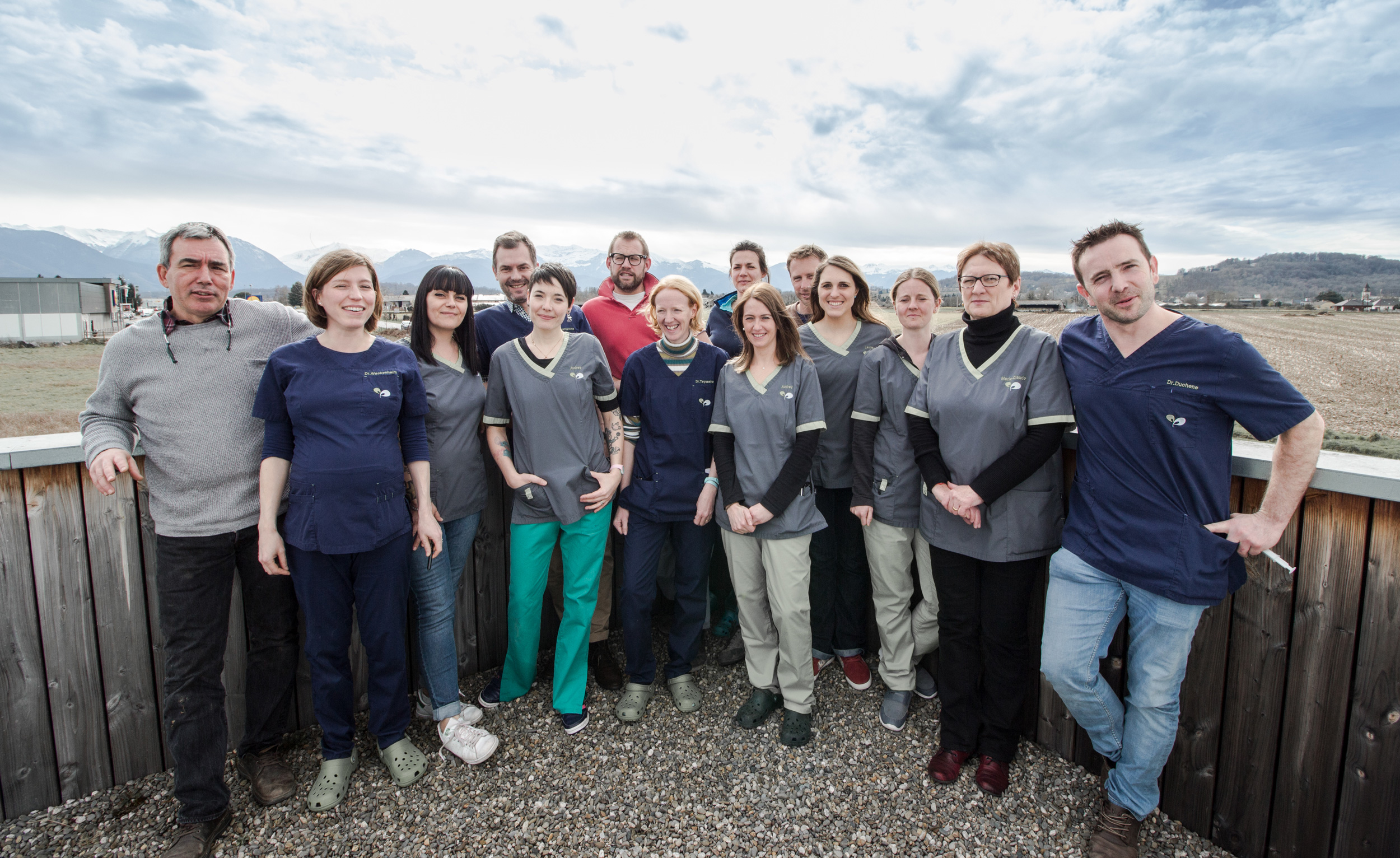 équipe des vétérinaires du Piémont